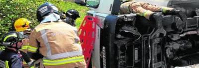 Accidente laboral en murcia al salirse con su camion a un huerto