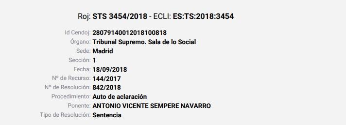STS 3454/2018 - ECLI: ES:TS:2018:3454